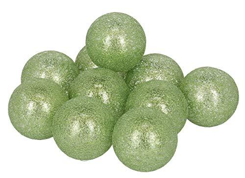 Postergaleria Cotton balls LED 10 Leuchtende Dekorative Bälle aus Baumwolle zur Trauung, Veranstaltung oder für Zuhause, viele Farben (hellgrün, glänzende) -