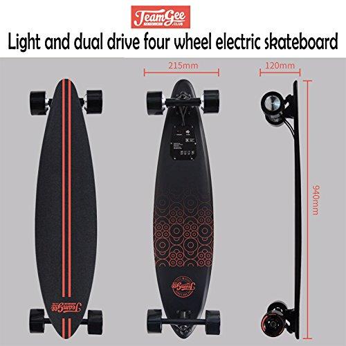 Vier – Radantrieb Elektro-Skateboard mit Fernbedienung von 1819, DE Adapter