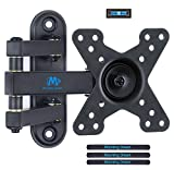 Mounting Dream TV Wall Mount Bracket Monitor Mount for most 10-26 Inch LED, LCD Flat Screen TV and Monitors, with Full Motion Swivel Articulating Arm, up to VESA 100x100mm and 15 KG, MD2463-02
