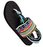 Ipomoea Damen Zehentrenner Schuhe Thong Sandalen Sommerschuhe Strand Flip Flop Damenschuhe Pantoffeln, Mehrfarbig, 39EU 39M(für Füße Länge 24.5cm)