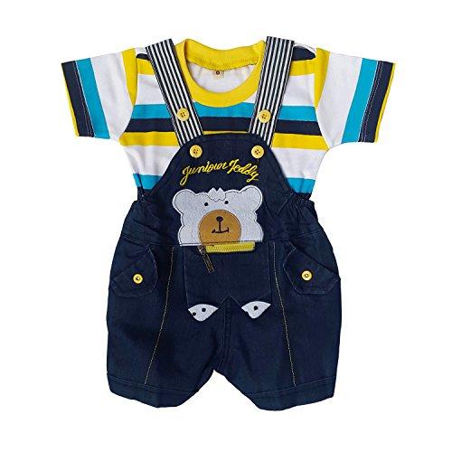Littly Baby Denim Dungaree Set (Yellow)