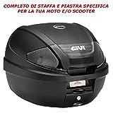 BAULETTO BAULE VALIGIA POSTERIORE GIVI CATADRIOTTI NERI 30LT E300NT2 + E223 HONDA SH 300 i 2007  2014 MONOLOCK MOTO SCOOTER