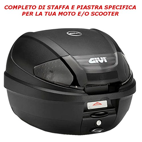 BAULETTO BAULE VALIGIA POSTERIORE GIVI CATADRIOTTI NERI 30LT E300NT2 + E223 HONDA SH 300 i 2007 > 2014 MONOLOCK MOTO SCOOTER