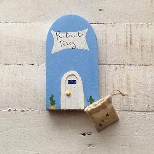 Puerta Mágica AZUL del Ratoncito Perez. Incluye bolsita de tela con una flecha en azul para dejar el diente. !!Puerta Mágica!!! Dimensiones: 18 * 9 aprox.