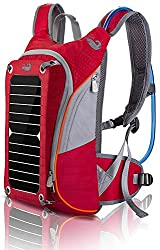Outdoor Pack Computer Solar Powered Backpack (Red)