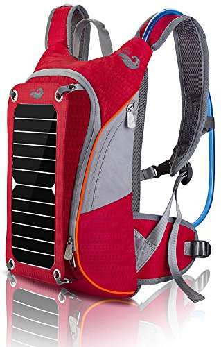 Outdoor Pack Computer Solar Powered Rucksack Rot