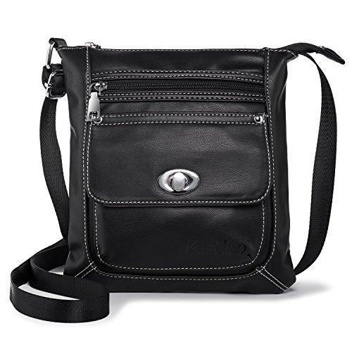 Borsa a Tracolla Donna Piccola Borse a Spalla Moda Borsetta in Pelle Messenger Bag Leggero con Muliti Tasche per Viaggio Shopping Casual Work Katloo