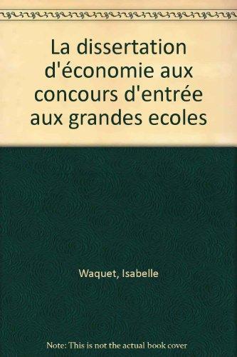 La dissertation d'économie aux conc...