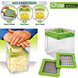 Chop Magic Vegetable Salad Fruit Cutter Chopper Dicer Slicer Container Tool Shopmonk