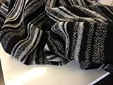 Brand New Designer Multi Colour Striped Wool Boucle Fabric