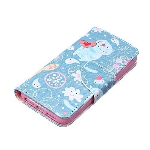 Für iPhone 6S Hülle,iPhone 6 Hülle,iPhone 6 Case,EMAXELERS Bunte Schmetterlinge Muster Wallet Cover mit Stand Funktion Kartenfächer Magnet Etui Schale Schutzhüllen PU Leder Flip Case Handytasche Muste Cartoon Cat
