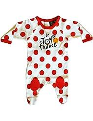 Le Tour de France - Pijama oficial para bebé, diseño del maillot del líder de la clasificación de la montaña del Tour de Francia, color blanco, tamaño 12 meses
