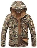 Kelmon Men's Outdoor Softshell Hooded Tactical Jacket (X-Large, Army)