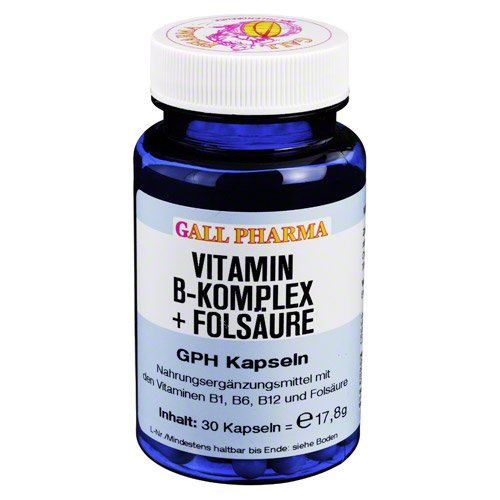 Gall Pharma Vitamin B-Komplex + Folsäure GPH Kapseln, 30 Kapseln