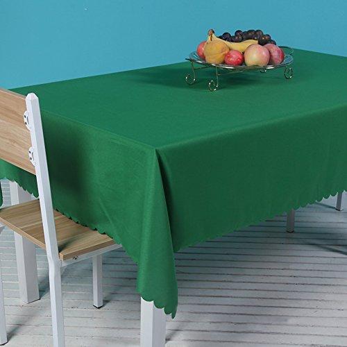 JiaQi Konferenztisch Tischdecken,Staubdicht Tabelle Tuch,Tisch Decken Für In ihrem zuhause Restaurant Partei Bankett Dekoration-Gras-Grün 220x340cm(87x134inch)