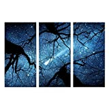 NVSHENY-LOVED Universum Serie Milchstraße Mit Baum Druck Auf Leinwand Malerei Für Kinderzimmer Wohnkultur Wandkunst Bild Leinwand Gemälde