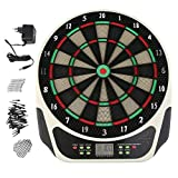 Homgrace Elektrisches Dartboard Dartscheibe Mehrfarbig Electronic Dart Scheibe mit LED-Display für 1-8 Spieler