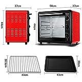 zxdf Strumenti di cottura della cucina Mini forno con piano cottura e Grill 2200W 60 L Forno elettrico con doppia piastra riscaldante ad alta capacità da tavolo piano cottura con molte funzioni preim