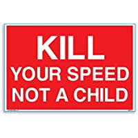 Matar a su velocidad, no un niño A4adhesivo de vinilo [300mm x 200mm]–5unidades