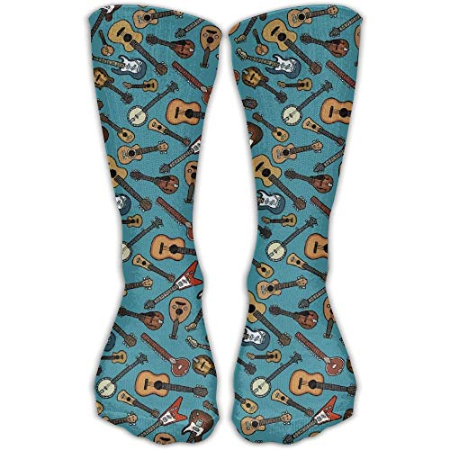 Funny Club (Guitar Instrument Unisex Casual Crew Socks Athletic Stockings Funny Designed)