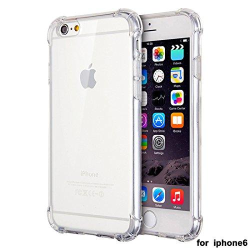 """xhorizon Transparente Handyhülle für iPhone 6 / iPhone 6S (4.7"""") mit Hartplastik und weicher TPU Gel zum Schutz vor Stößen #1"""