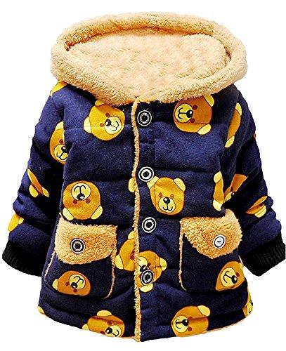 6 Monate bis 3 Jahre Baby Wintermantel Jacke dicke Baumwolle innen Kinder warme Winter Mädchen Jungen Winter Top (Benutzerdefinierte Shirts Mädchen)