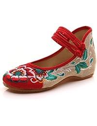 Scarpe sportive etniche rosse per donna Shengshiyujia