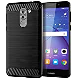 YQXR Accesorios para Celular Nuevo for Huawei GR5 2017 Caja del teléfono móvil for Huawei GR5 Cubierta Protectora patrón de Fibra de Carbono Cepillado Silicona Anti-caída cáscara Suave