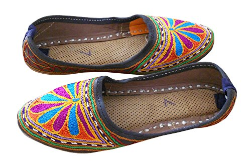 kalra Creations Femme Chaussures Casual en Cuir indien traditionnel bigarré