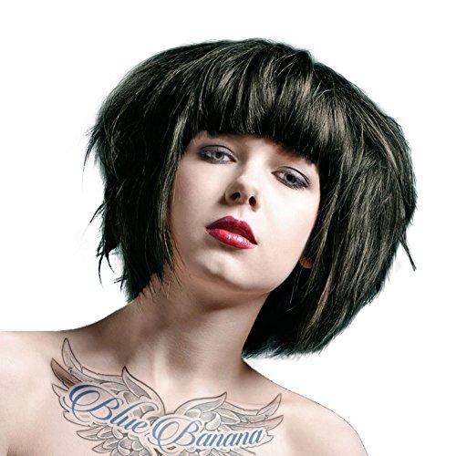 La Riche Directions Semi-Permanente Haarfarbe 88ml (Ebony Black) + KOSTENLOSES Blue Banana Sugar Skull Täschchen