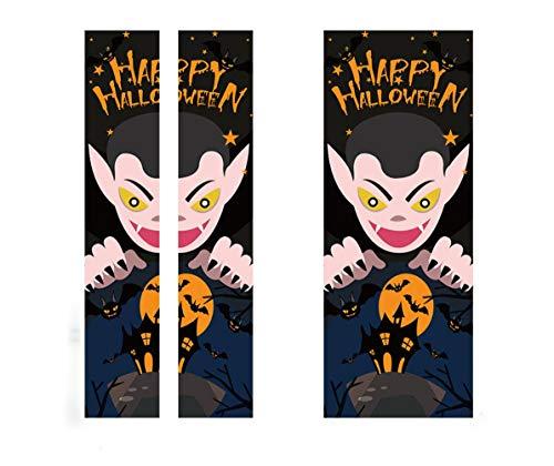 Gzl Halloween-Dekoration Vampir 3D Tür Aufkleber Dekoration Wandaufkleber