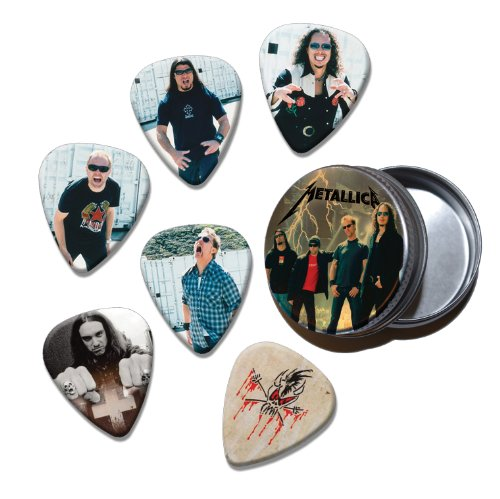 Metallica Set of 6 Loose Chitarra Picks Plettri in Tin ( Collection C )