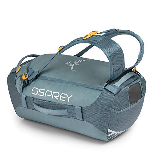 Osprey Transporter 40 Unisex Durable Duffel Travel Pack with Harness and Detachable Padded Shoulder Strap - Keystone Grey (O/S)