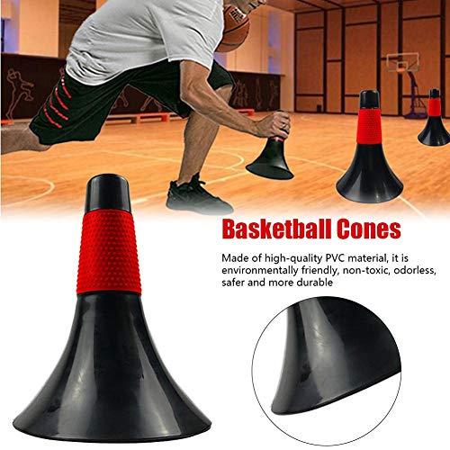 QUUY Sport Cones PVC Absturzsicherer Leitkegel Feldmarkierungskegel Sicherheit Verkehrszeichen für Aktivität Basketball Fußball Schlittschuhtraining