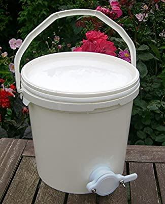 Imker 10 Liter Honig Absetzbehälter mit Ventil von simonthebeekeeper bei Du und dein Garten