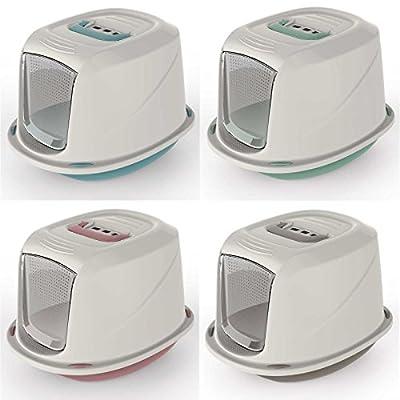 Cat Galaxy Hooded Litter Tray Kitten Toilet Filter Carry Handle Flap Door 4 Colours