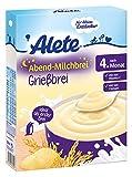 Alete Abend-Milchbrei Grießbrei, 9er Pack (9 x 250 g)