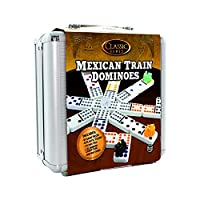 TCG Toys Mexican Train with Aluminum Case Dominos Game