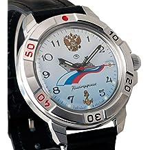 Vostok KOMANDIRSKIE 2414431619azul marino militar ruso reloj mecánico