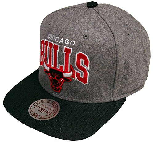 Mitchell And Ness - Casquette Snapback Homme Chicago Bulls Assist Heather Wool - Grey/Black