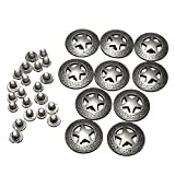 KUNSE 10Pcs Conchos in Pelle Artigianale Texas Stelle Sella Occidentale Rodeo in Pelle Tack Leathercraft Accessori