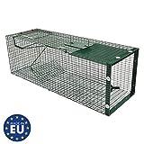 Moorland Trappola a Cassetta Cattura Animali vivi Safe 5002 - per martore, Barbone, Gatti, Volpi -1 Ingresso 90x30x30cm