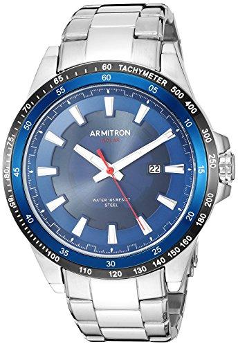 Armitron Men's Quartz Stainless Steel Dress Watch, Color:Silver-Toned (Model: 20/5303NVSV)