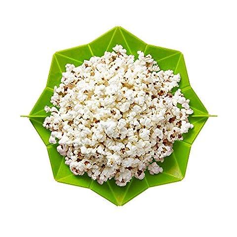 Tonsee Mikrowellen Sie Silikon Magische Haushalt Popcorn Maker Gesundes Kochen Containertools (Grün)