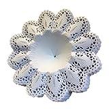 Biedermeier Manschetten weiß 25 Stück Größe 12 Papiermanschetten Blumenmanschetten Straußmanschetten