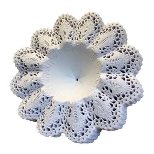 Biedermeier Manschetten weiß 25 Stück Größe 4,5 Papiermanschetten Blumenmanschetten...