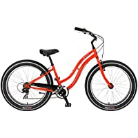 Bicicleta Sun Baja Cruz Lady roja 7V