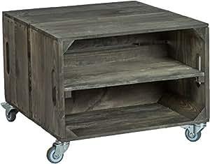 kistenkolli altes land 2er obstkistentisch k nig mit rollen ma e 56 x 49 x 38cm couchtisch. Black Bedroom Furniture Sets. Home Design Ideas