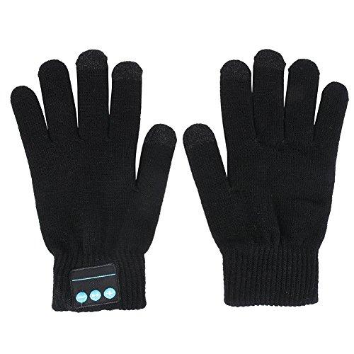 Kasit Knit BT 3.0 Handschuhe für Damen und Herren Winter Handschuhe Screen-Handschuhe Strickhandschuhe für Handy-Pad - Schwarz (Handschuhe Antwort)