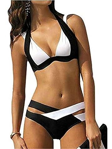 Bohai Women Bikini Set Bandage Push Up Padded Swimwear Swimsuit Bathing Beachwear